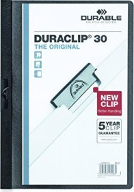Durable Duraclip 30 Klemm-Mappe A4, schwarz (220001)