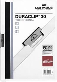 Durable Duraclip 30 Klemm-Mappe A4, weiß (220002)