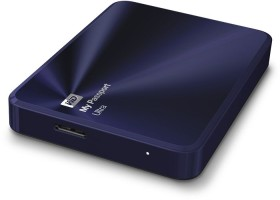 Western Digital WD My Passport Ultra Metal blau/schwarz, 2TB, USB 3.0 Micro-B (WDBEZW0020BBA)