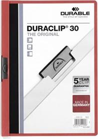 Durable Duraclip 30 Klemm-Mappe A4, rot (220003)