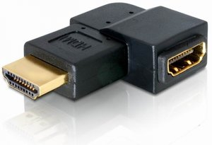 DeLOCK HDMI adapter, plug/socket, angled left (65077)
