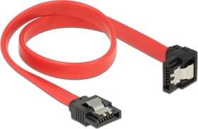 DeLOCK SATA 6Gb/s cable red 0.3m, bottom angled (83978)