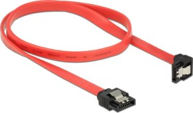 DeLOCK SATA 6Gb/s cable red 0.5m, bottom angled (83979)