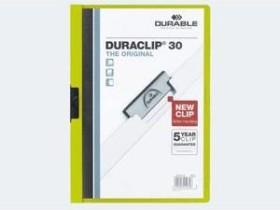 Durable Duraclip 30 Klemm-Mappe A4, grün (220005)