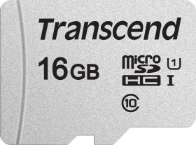 Transcend 300S R95/W45 microSDHC 16GB, UHS-I U1, Class 10 (TS16GUSD300S)