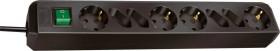 Brennenstuhl Eco-Line mit Schalter schwarz 8-fach, 1.5m (1150300015)