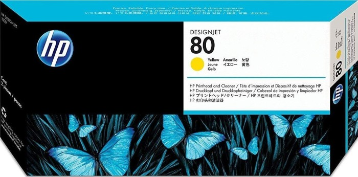 HP Printhead 80 yellow with cleaner (C4823A)
