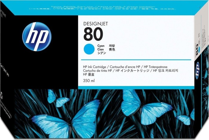 HP ink Nr 80 cyan 350ml (C4846A)