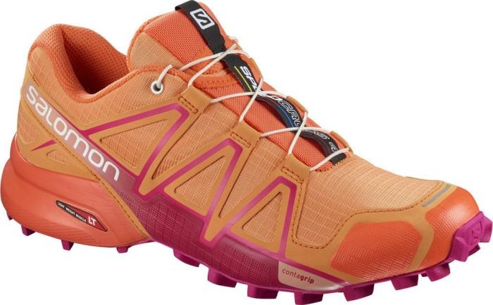 Salomon Damen Speedcross 4 W Traillaufschuhe, Orange (Bird of Paradise/Nasturtium/Pink YA 000), 42 EU