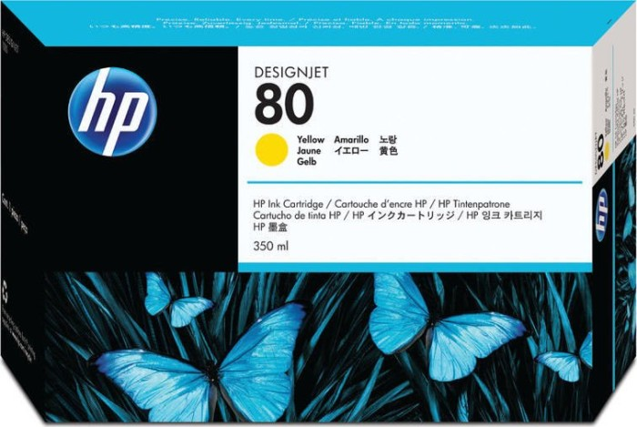 HP ink Nr 80 yellow 350ml (C4848A)