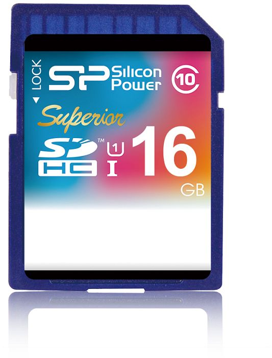 silicone Power superior SDHC 16GB, UHS-1 (SP016GBSDHCU1V10)