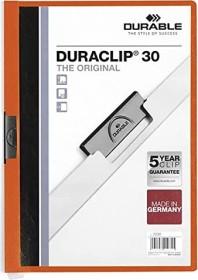 Durable Duraclip 30 Klemm-Mappe A4, orange (220009)