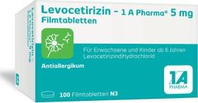 1A Pharma Levocetirizin 5mg Filmtabletten, 100 Stück