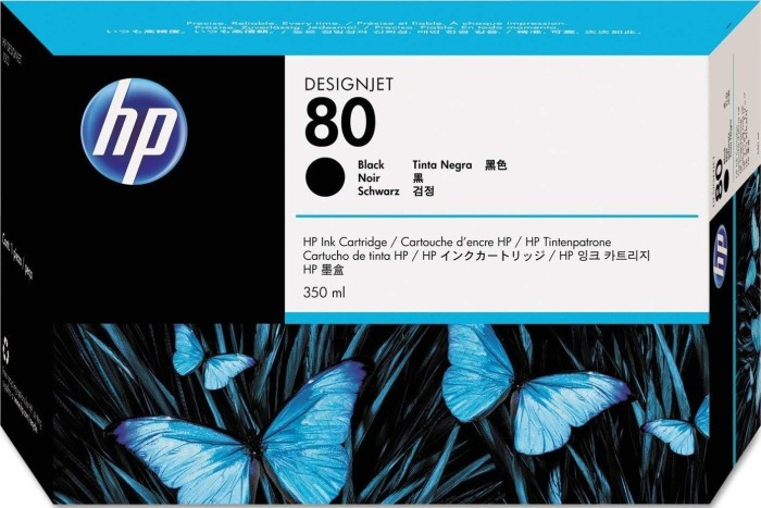 HP ink 80 black (C4871A)