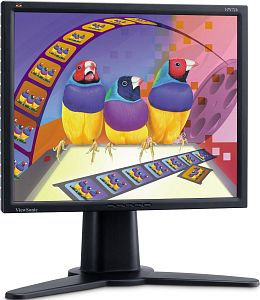 "ViewSonic VP171b 16ms schwarz, 17"", 1280x1024, 2x analog/digital"