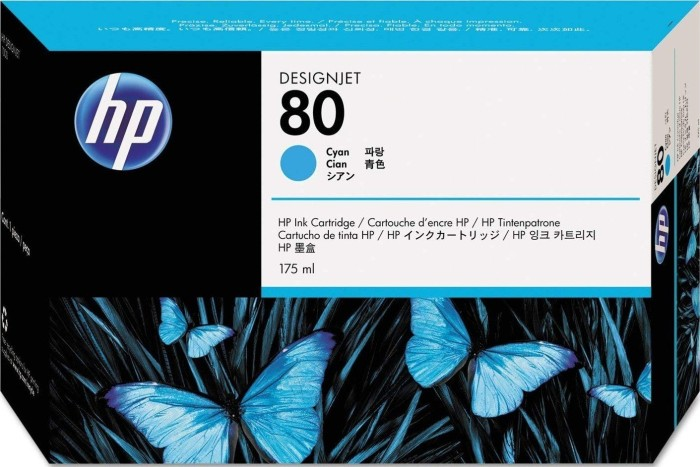 HP 80 tusz błękitny 175ml (C4872A)