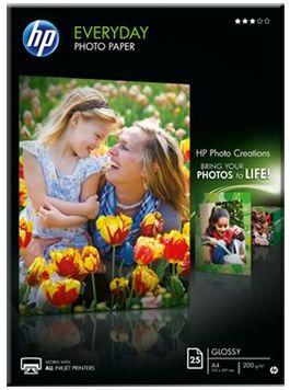 HP Q5451A Fotopapier glänzend, A4, 200g, 25 Blatt