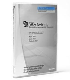 Microsoft Office 2007 Basic DSP/SB, MLK, 1er-Pack (deutsch) (PC) (S55-01363)