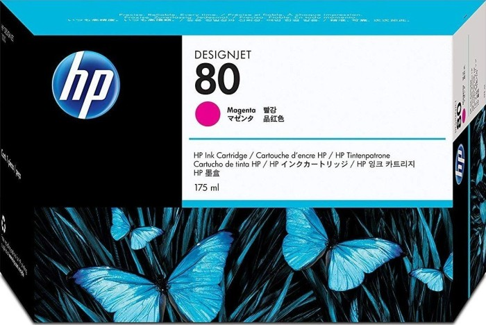 HP 80 tusz purpurowy 175ml (C4874A)