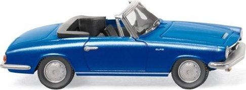 Glas 1700 GT Cabrio met.blau Wiking 1:87-018649 #E