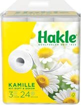 Hakle Kamille 3-lagig Toilettenpapier weiß, 24 Rollen