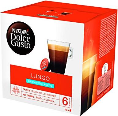 Nestlé Nescafe Dolce Gusto Caffe Lungo Decaffeinato coffee capsules, 16-pack -- via Amazon Partnerprogramm