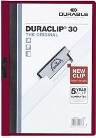 Durable Duraclip 30 Klemm-Mappe A4, dunkelrot (220031)