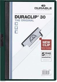 Durable Duraclip 30 Klemm-Mappe A4, dunkelgrün (220032)