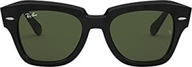Ray-Ban RB2186 State Street 52mm black/green classic (RB2186-901/31)