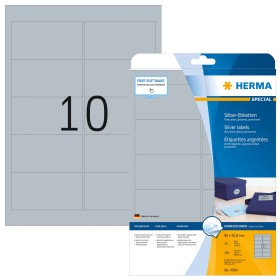 Herma labels Special 96x50.8mm, silver, 25 sheets (4099)