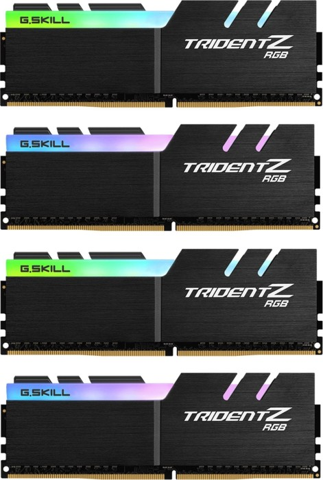 G.Skill Trident Z RGB DIMM Kit 64GB, DDR4-3733, CL17-19-19-39 (F4-3733C17Q-64GTZR)