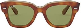Ray-Ban RB2186 State Street 52mm tortoise/light green classic (RB2186-12934E)
