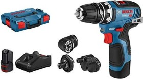 Bosch Professional GSR 12V-35 FC FlexiClick Akku-Bohrschrauber inkl. Koffer + 2 Akkus 3.0Ah + Zubehör (06019H3000)