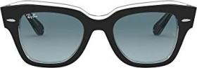 Ray-Ban RB2186 State Street 52mm black/blue gradient (RB2186-12943M)