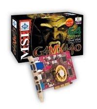 MSI MS-8866 G4MX440-VTP, GeForce4 MX440, 64MB DDR, dual VGA, VIVO, AGP