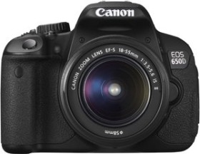 Canon EOS 650D schwarz mit Objektiv EF-S 18-55mm IS II und EF-S 55-250mm IS (6559B017)