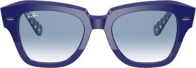 Ray-Ban RB2186 State Street 49mm blue/light blue gradient (RB2186-13193F)
