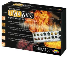 TerraTec SoundSystem DMX 6fire 24/96, 5.1, Breakout box, PCI (1436)
