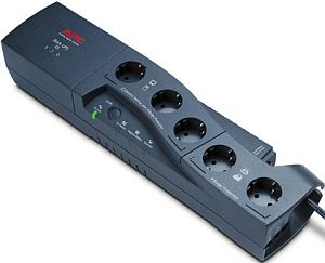 APC Back-UPS ES 500VA power strip, USB (BF500-GR)