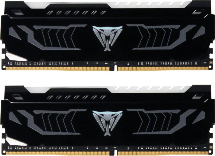 Patriot Viper LED weiß DIMM Kit 16GB, DDR4-3200, CL16-18-18-36 (PVLW416G320C6K)