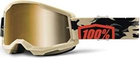 100% Strata2 safety goggles kombat/true gold lens (50421-253-10)