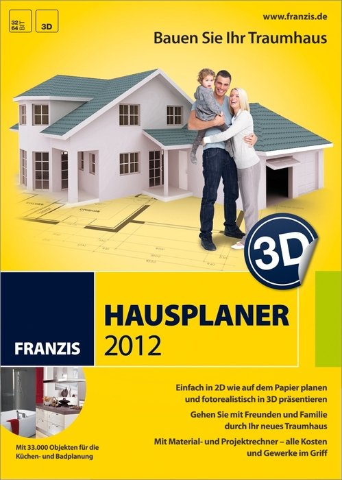franzis 3d hausplaner 2012 deutsch pc in sonstiges diverse tools utilities heise. Black Bedroom Furniture Sets. Home Design Ideas