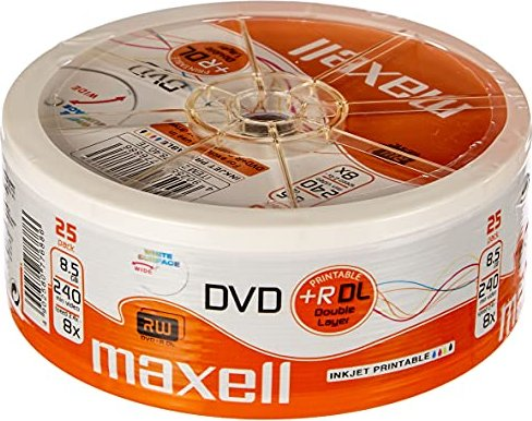 Maxell DVD+R 8.5GB DL, 25-pack (276077) -- via Amazon Partnerprogramm