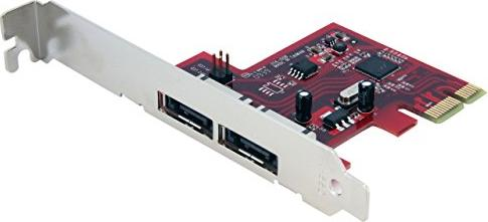 StarTech PEXESAT32, 2x eSATA 6Gb/s, PCIe x1 -- via Amazon Partnerprogramm