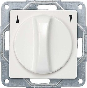 Siemens DELTA i-system UP blind-toggle switch, titanium white (5TA7660)