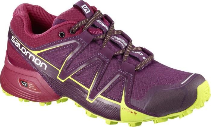 Salomon Damen Speedcross Vario 2 Trailrunning-Schuhe, Violett/Rot (Dark Purple/Cerise/Acid Lime), Gr. 43 1/3