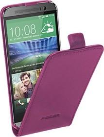 Pedea Flip Cover Echtleder für HTC One Mini 2 violett (32260073)