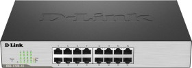D-Link DGS-1100 Desktop Gigabit Smart Switch, 16x RJ-45 (DGS-1100-16)