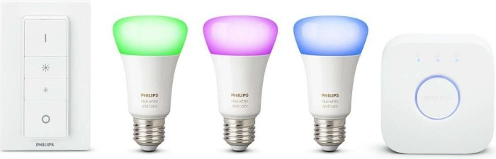 Philips Hue White and Color Ambiance E27 10W Starter-Kit (728796-00)