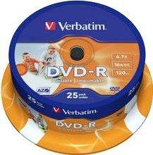 Verbatim DVD-R 4.7GB 16x, 25er Spindel printable (43538)